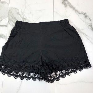 Xhilaration• Black Embroidered Shorts